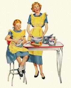mom + daughter baking