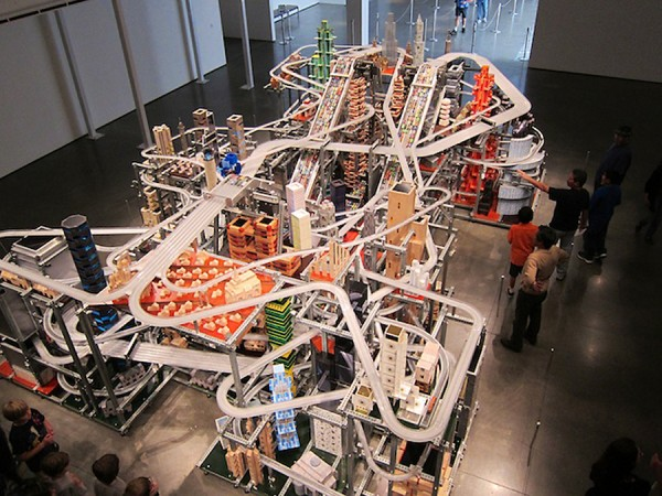 Metropolis II permanent installation at LACMA created by Chris Burden