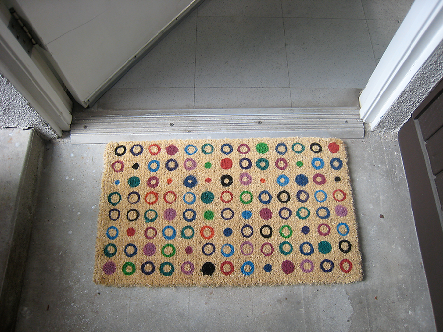 Ikea doormat to studio