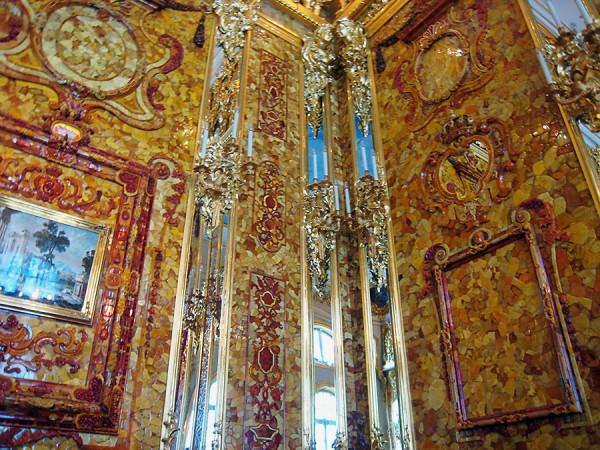 Amber Room at Catherine's Palace at Tsarkoe Selo