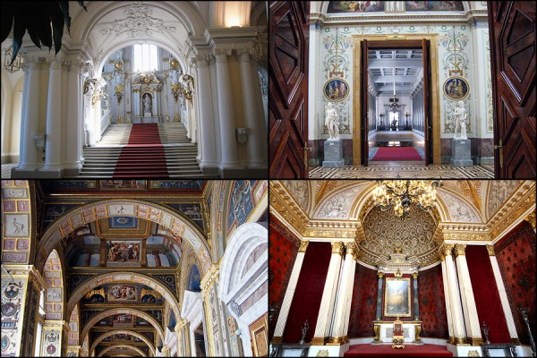 The Hermitage Museum and throne room