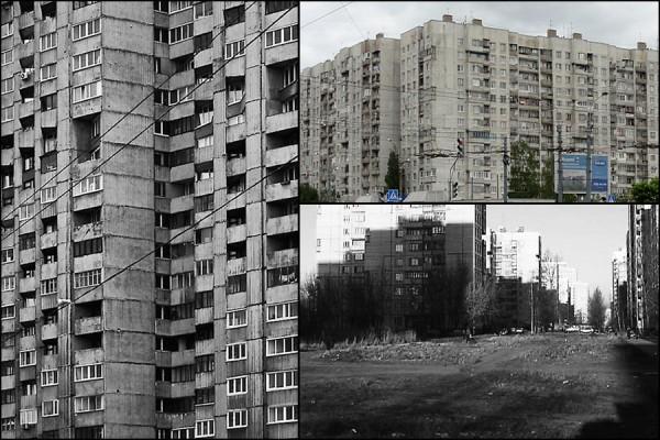 Russian apartment buildings