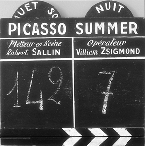 Picasso Summer Film slate