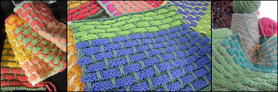 Hand knit dishrags