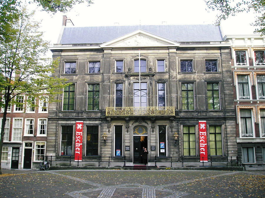 The exterior view of the Escher Museum in The Hague