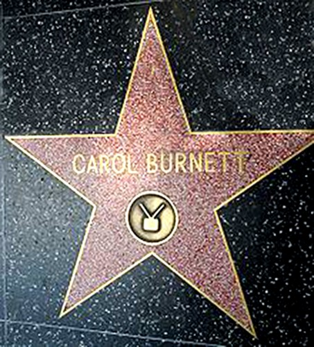 Carol Burnett's star on the Holly Walk of Fame