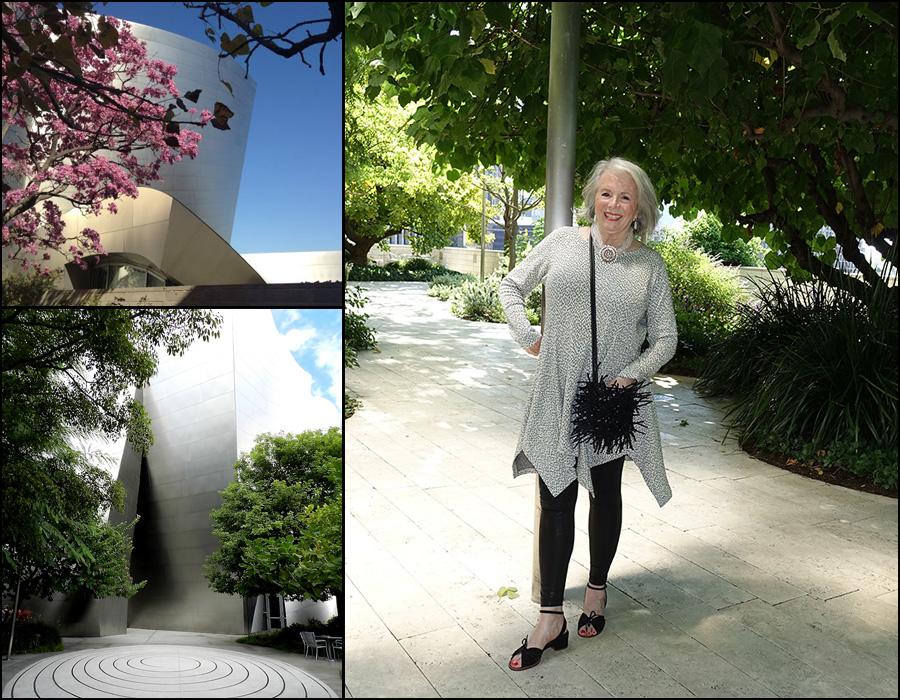 Sandra at Blue Ribbon Garden at Walt Disney Hall