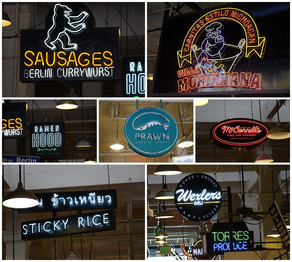 Montage of venders at Grand Central Market