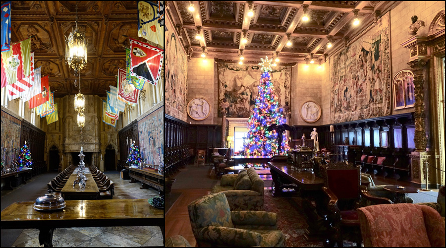Dining room and Living room at Hearst Castle