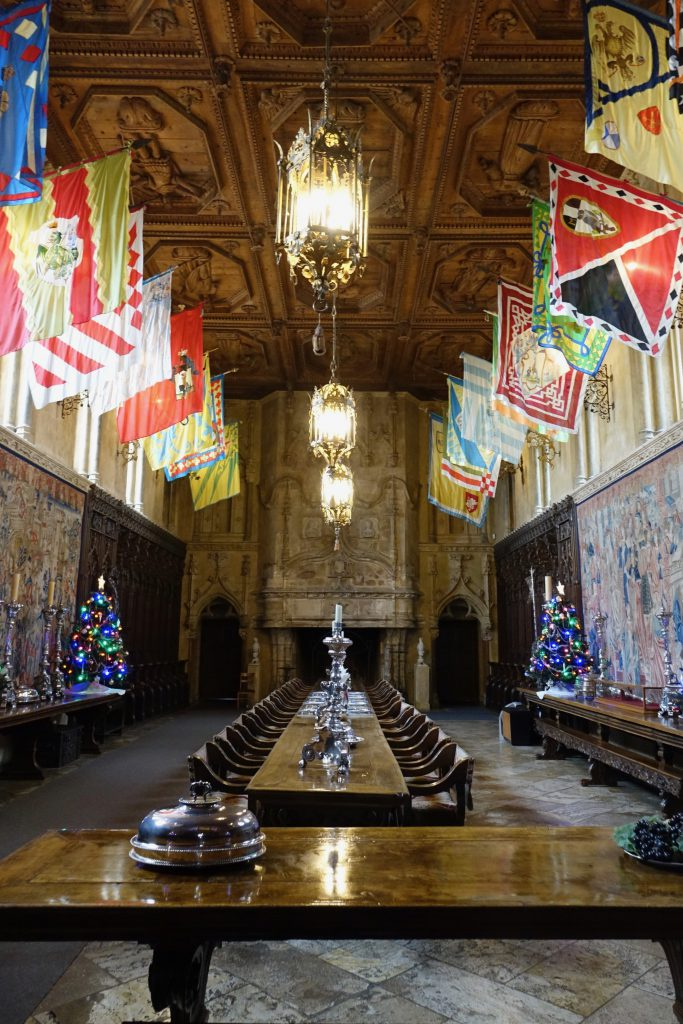Dinning hall at Hearst Castle