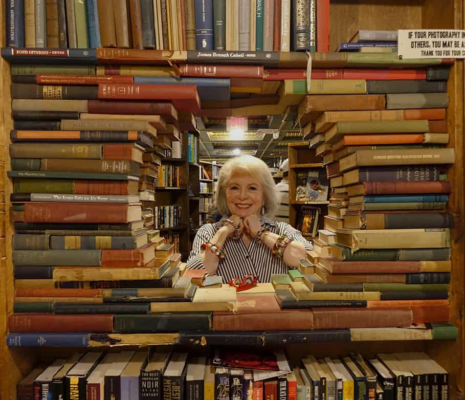 circle of books at The Last Bookstore
