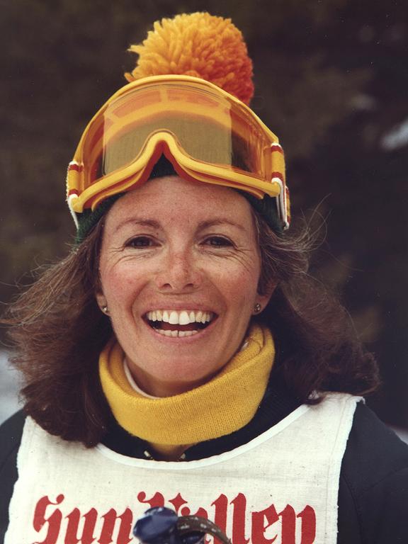 Sandra Sallin in her ski hat
