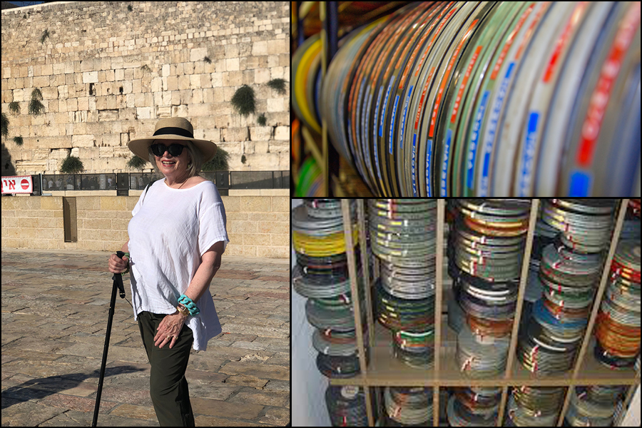 Sandra at the Western wall and rolls of film