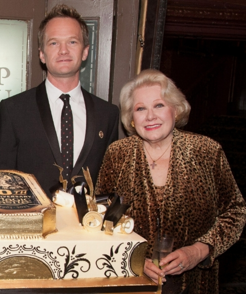 Neil Patrick Harris with Irene Larsen, sister of Magic Castle founder, Milt Larsen