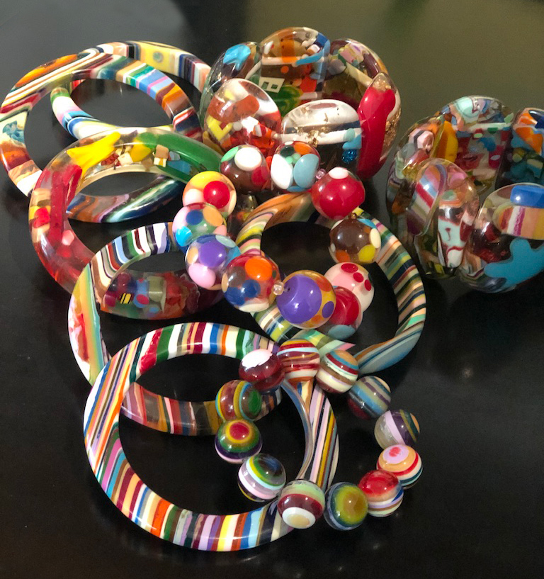 I love how colorful these bracelets are. They go with everything.