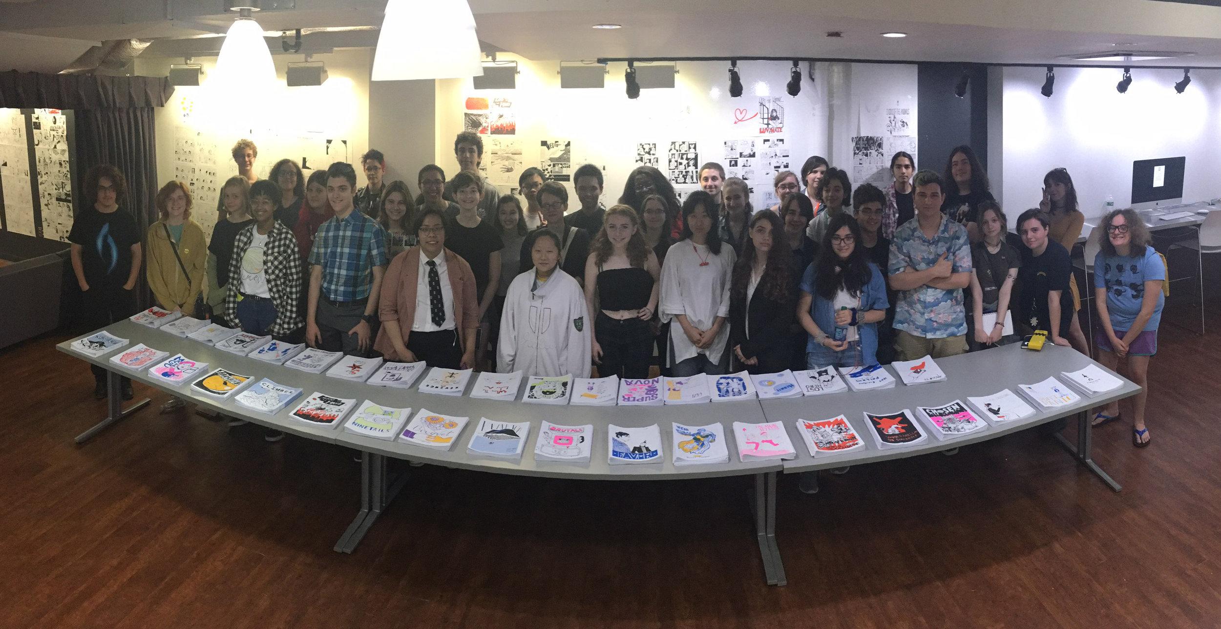 Summer Precollege 2018—final critique and exhibition.