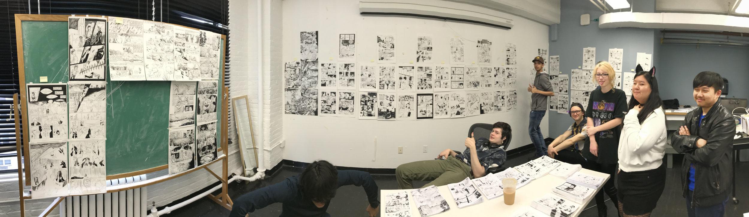 Final crit in Principles of Cartooning '18 - '19.