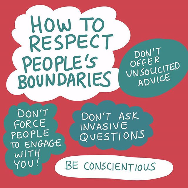 Remember that other people don't exist to improve YOUR experience and respecting boundaries is the foundation of interacting with anyone from friends and family to strangers on the internet 🙅🏻‍♀️🤳🙅🏻‍♀️🤳 #boundaries #healthyboundries #respect #communication #friends #family #no #mindful #art #artist #design #graphicdesign #doodle #procreate #digitalart #sketch #illustration #nonsense #cauliflowerhour