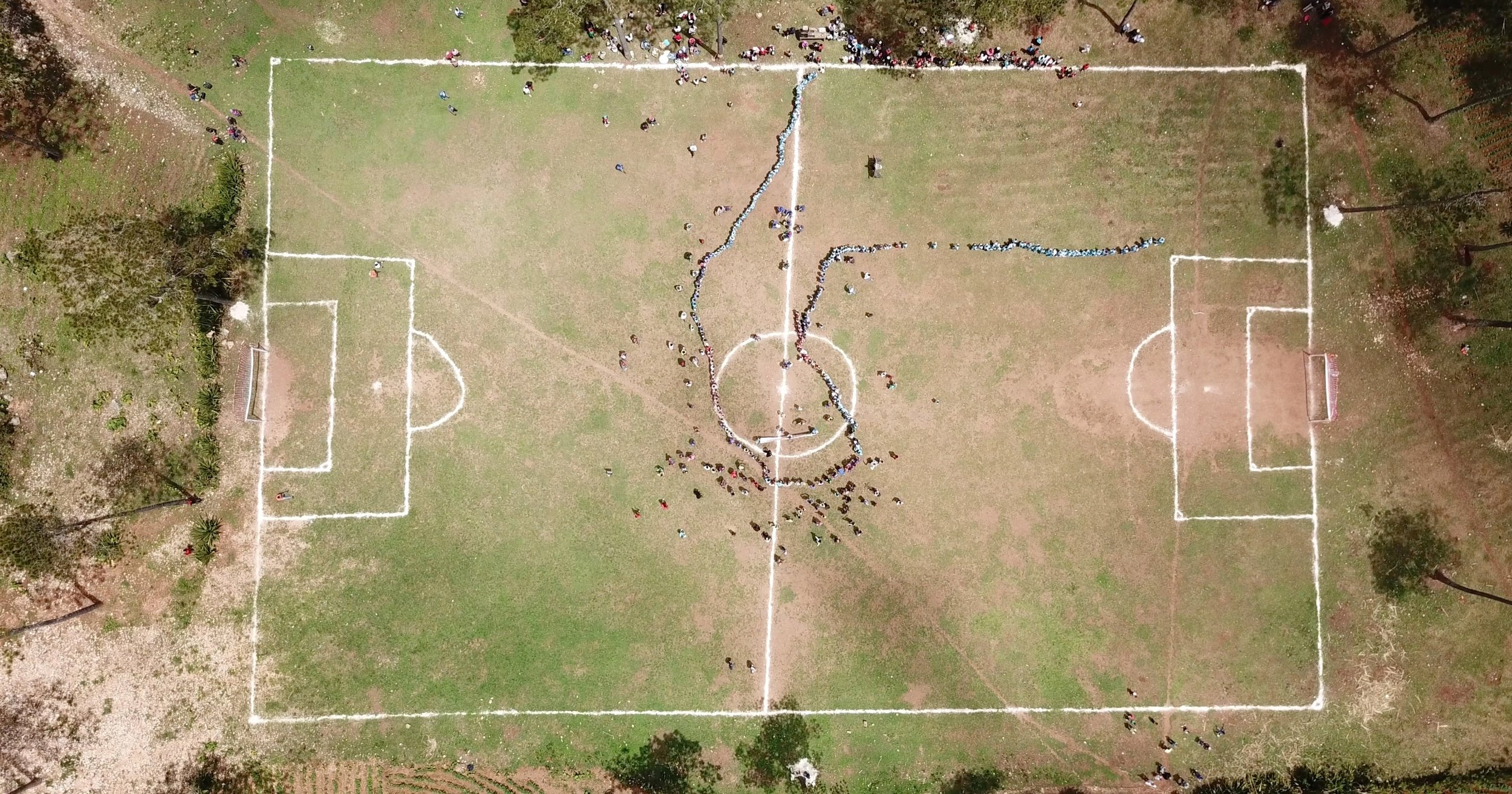soccer field from satellite view