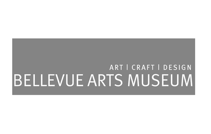 Bellevue Arts Museum logo arts crafts design black and white