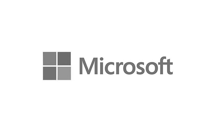 Microsoft Windows linear logo black and white
