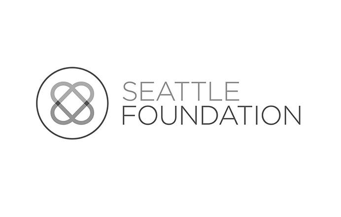 Seattle Foundation logo logo black and white