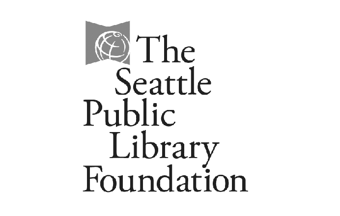 Seattle Public Library Foundation logo black and white