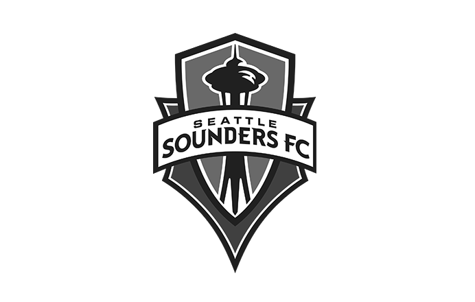 Seattle Sounders Football Club logo black and white