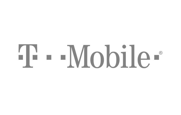 T-Mobile logo in gray