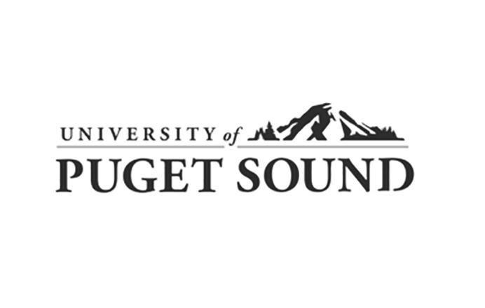 University of Puget Sound logo black and white
