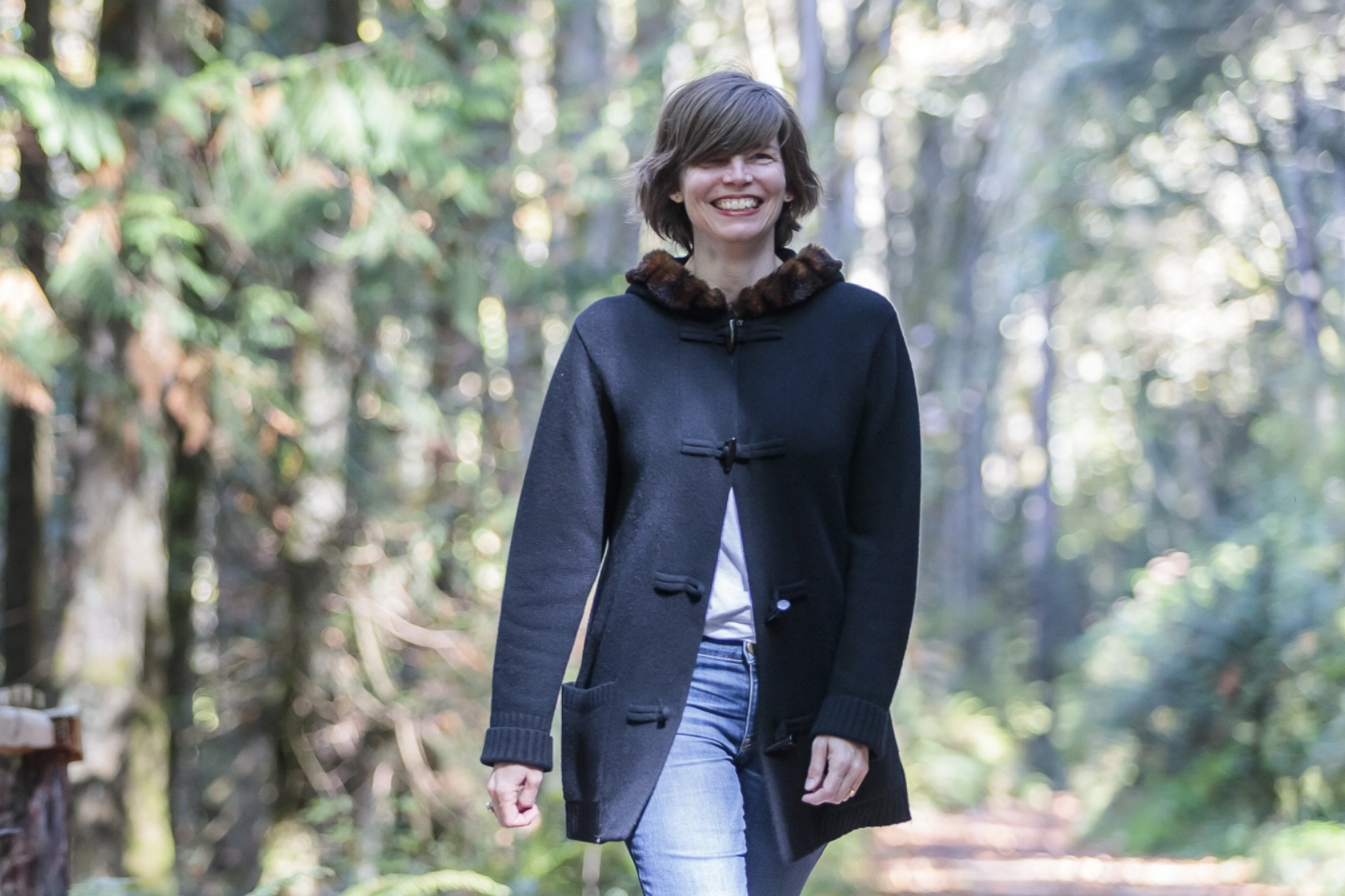 Heidi Dikeman, designer and illustrator at Soulcraft Allstars in black overcoat