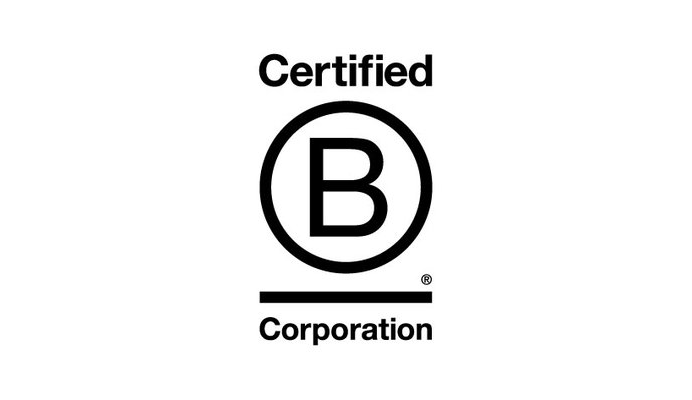 Certified B Corporation logo black and white