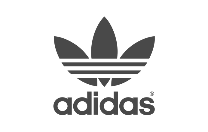 adidas logo black and white