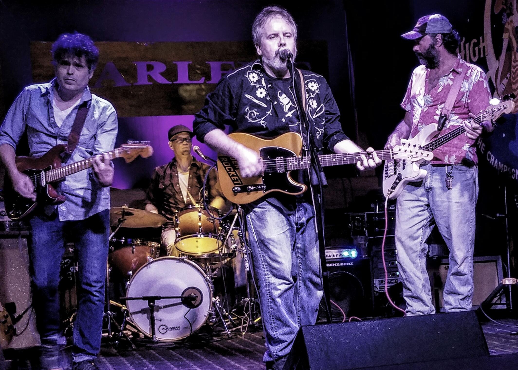 Greg Horne Band (Barry Po Hannah, Nate Barrett, Greg Horne, Chris Zuhr) by Ruth Burchfield