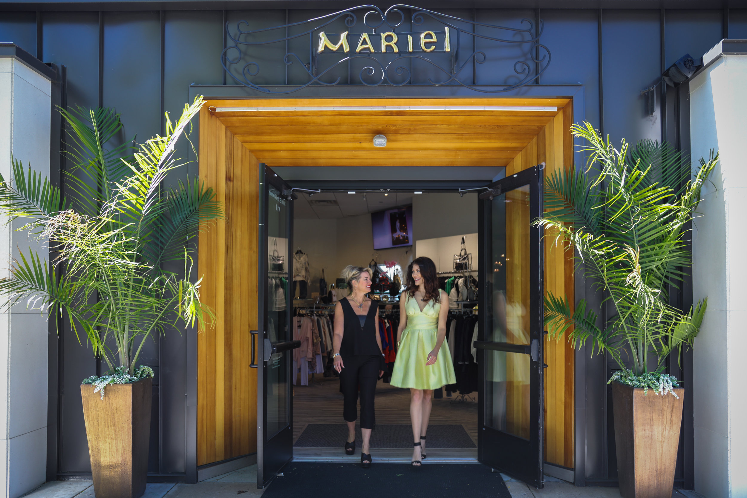 Hailey leaving Mariel with boutique owner Denise Snyder.
