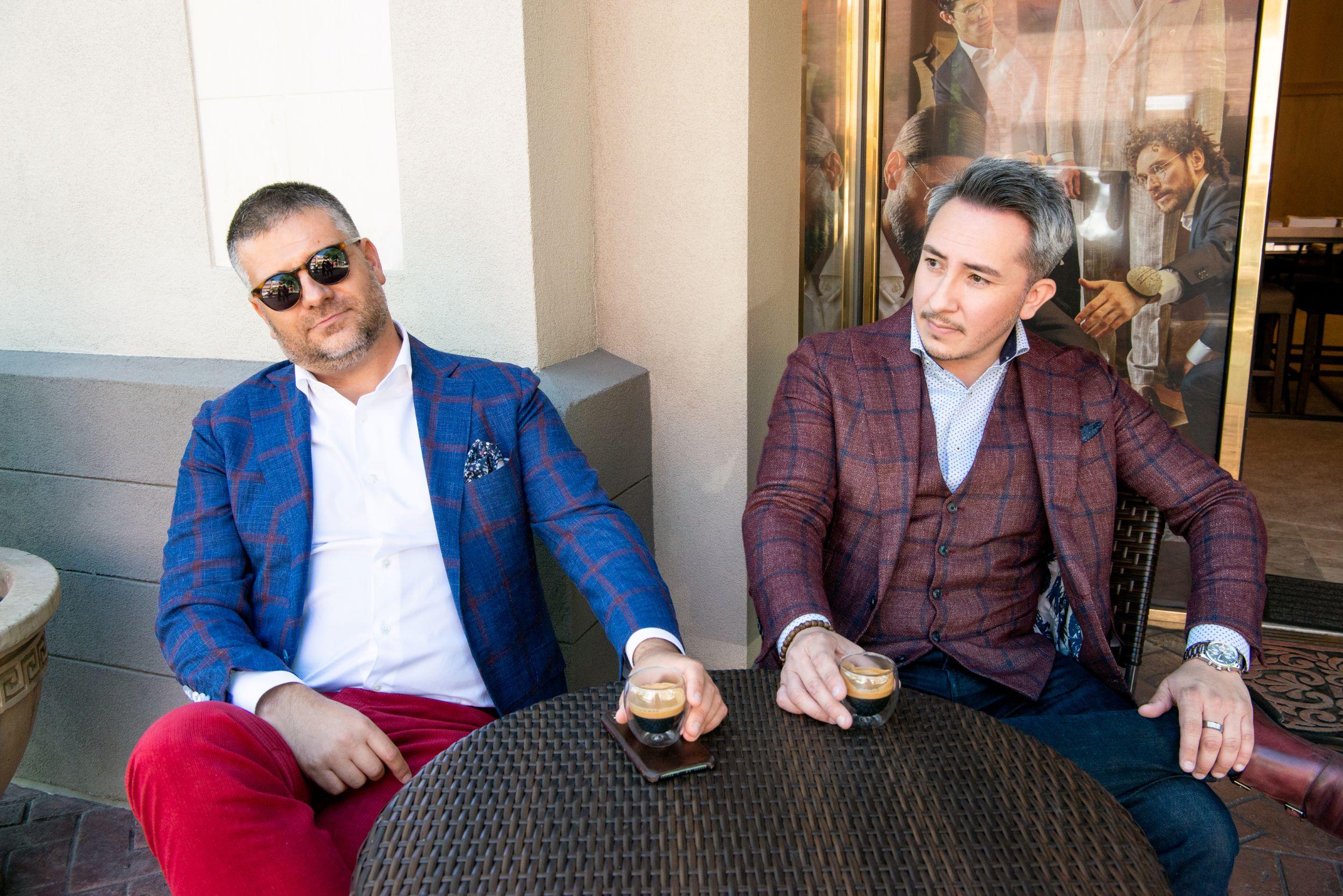 With Dmitriy Metsaev (l)