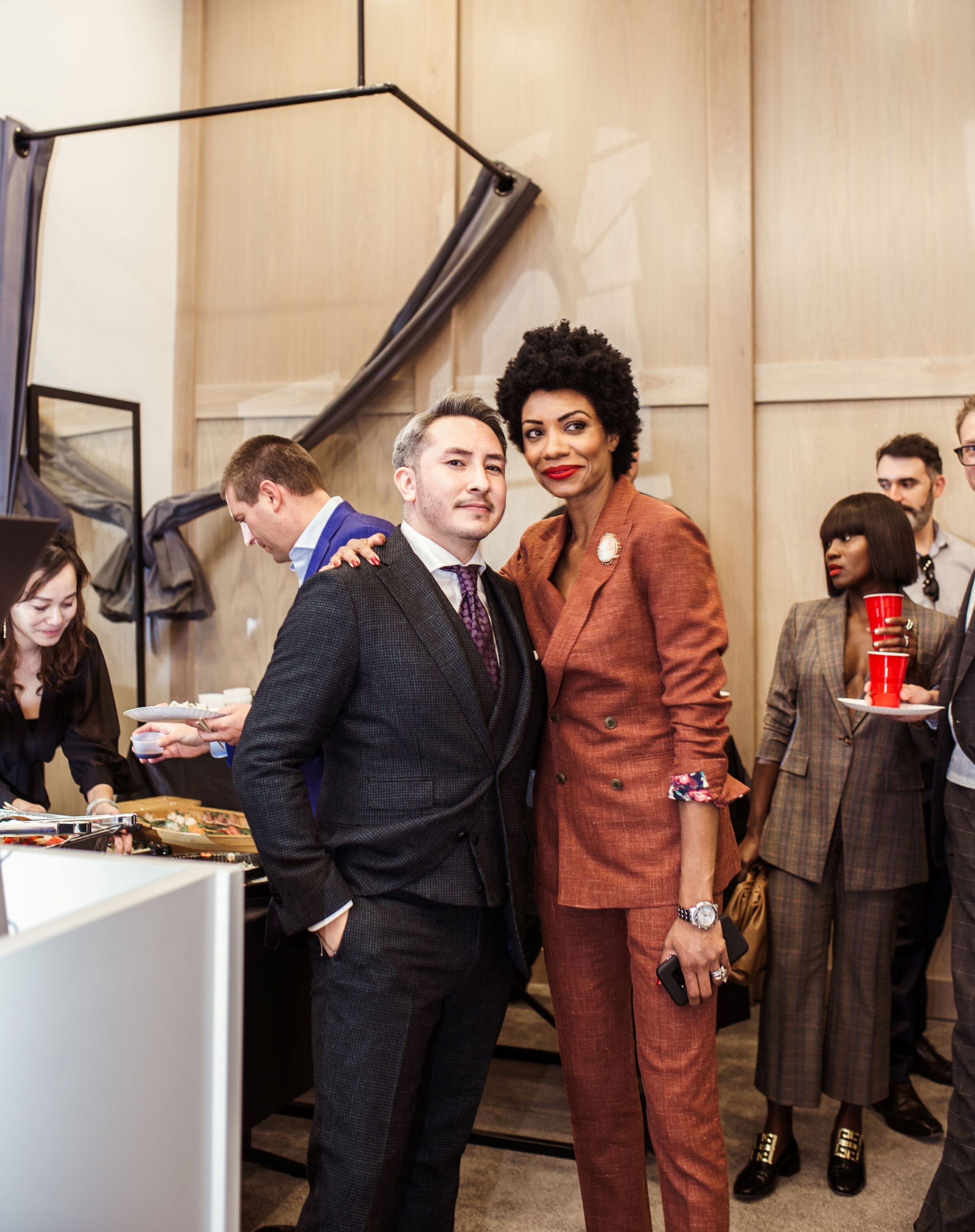 Tatsu Ogata and Esther Lee Leach at Icon Suit for Cherry Creek Fashion Magazine