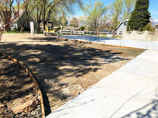 Spring has sprung, and so have many new projects. We're looking forward to a busy summer!  #concrete #driveway #architecture #construction #sandy #utah #parkcity
