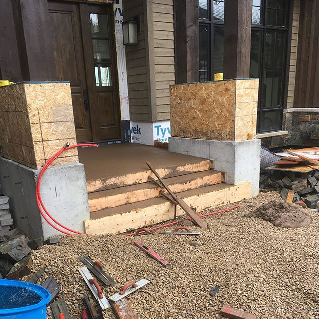 The best Mother's Day gift is a finished front patio! Happy Mother's Day to all the wonderful moms out there!  #concrete #architecture #construction #parkcity #utah #sandy #saltlakecity