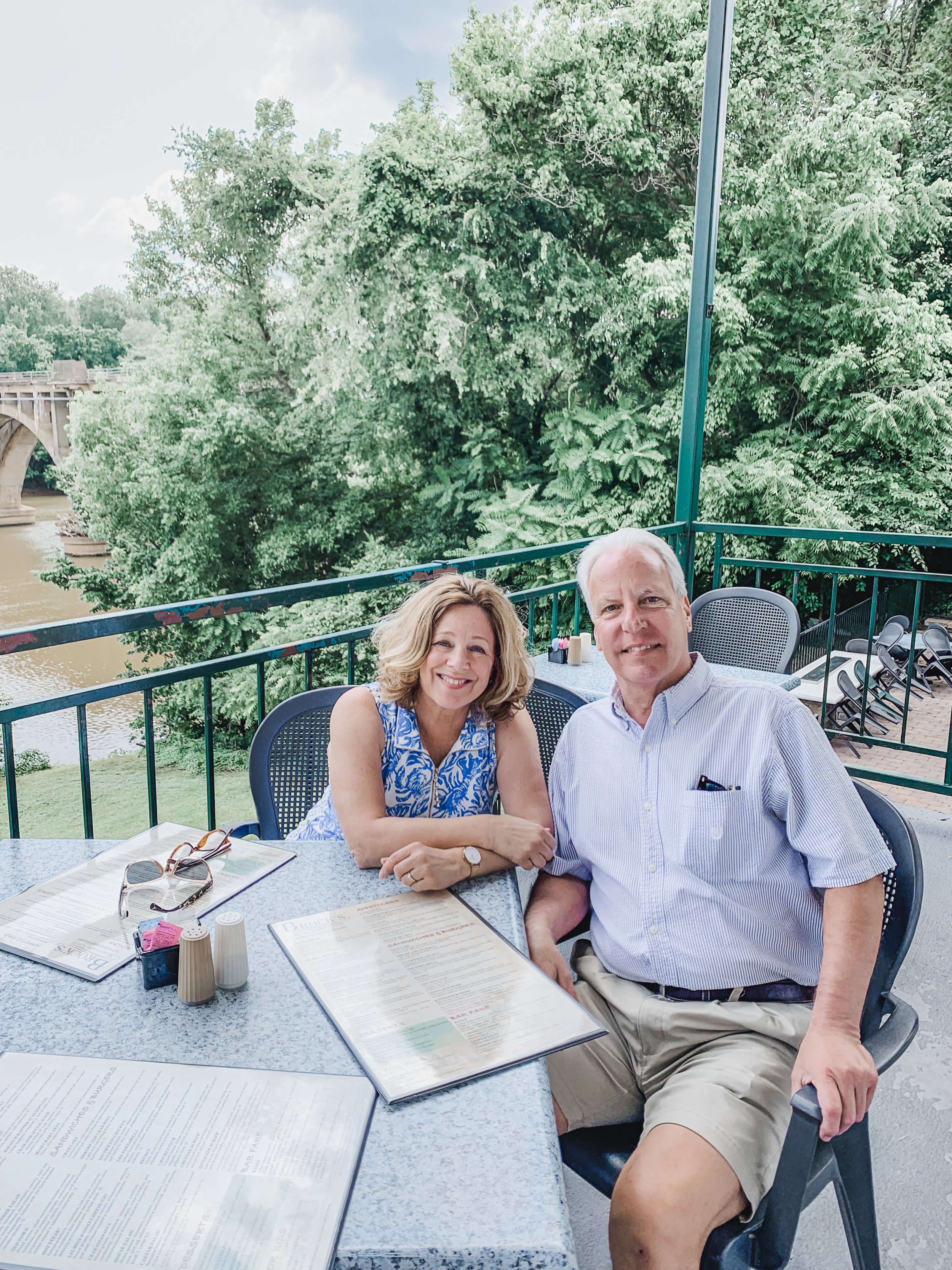 My parents at  Brock's Riverside Grill