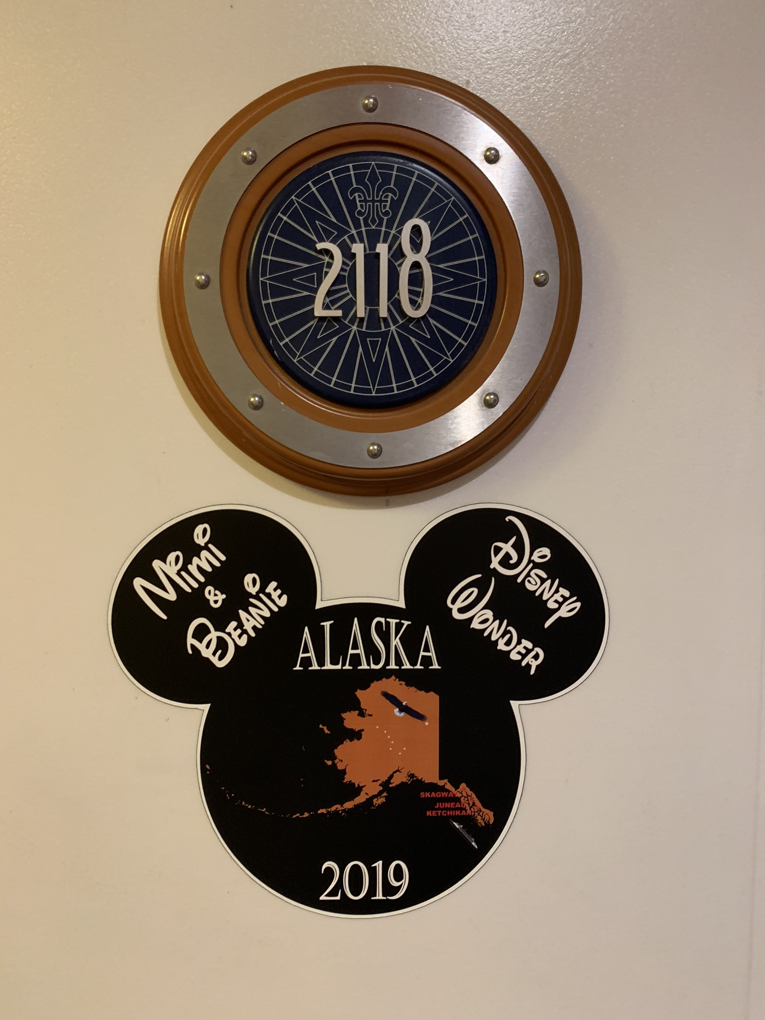 Our magnet for the stateroom door!