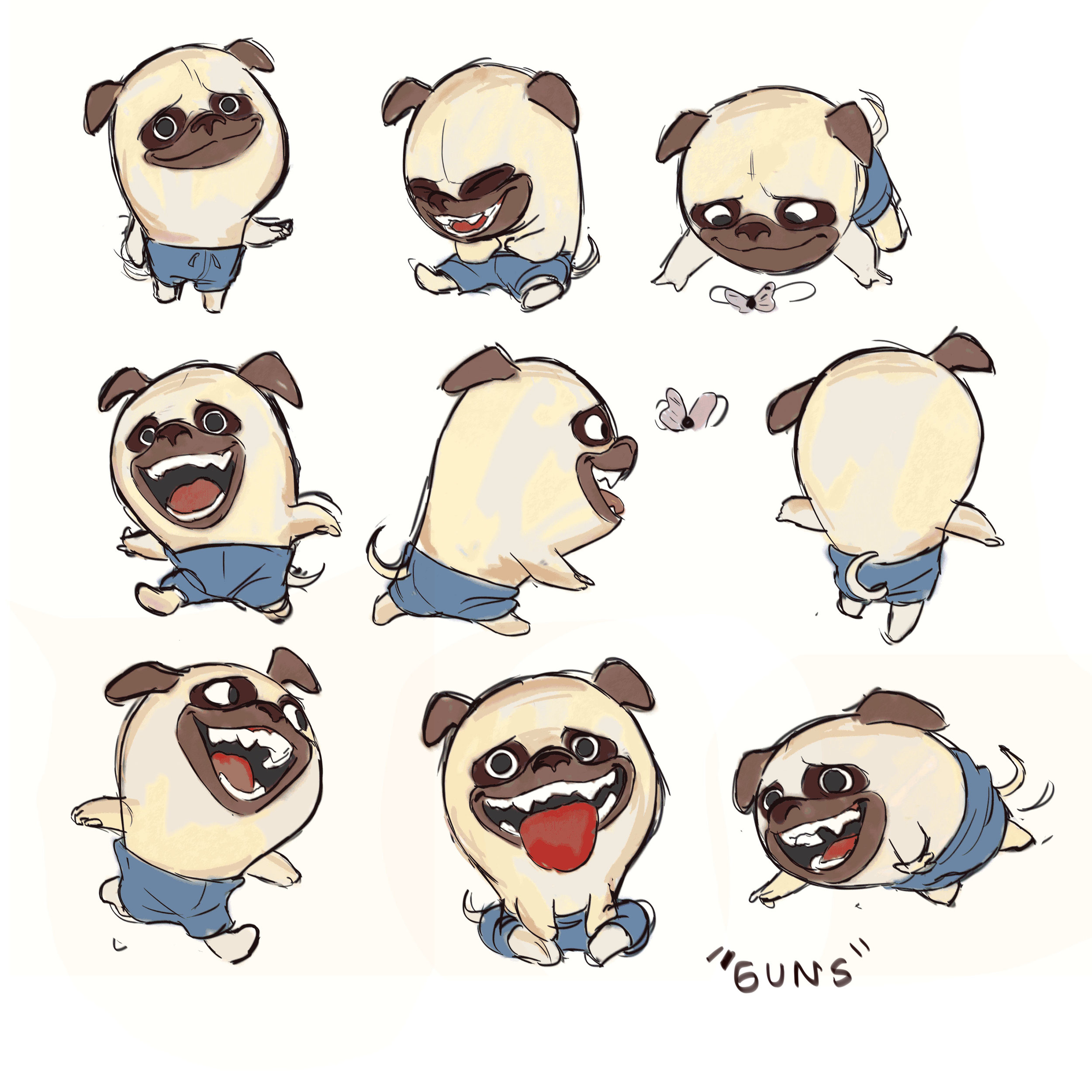Guns the Pug