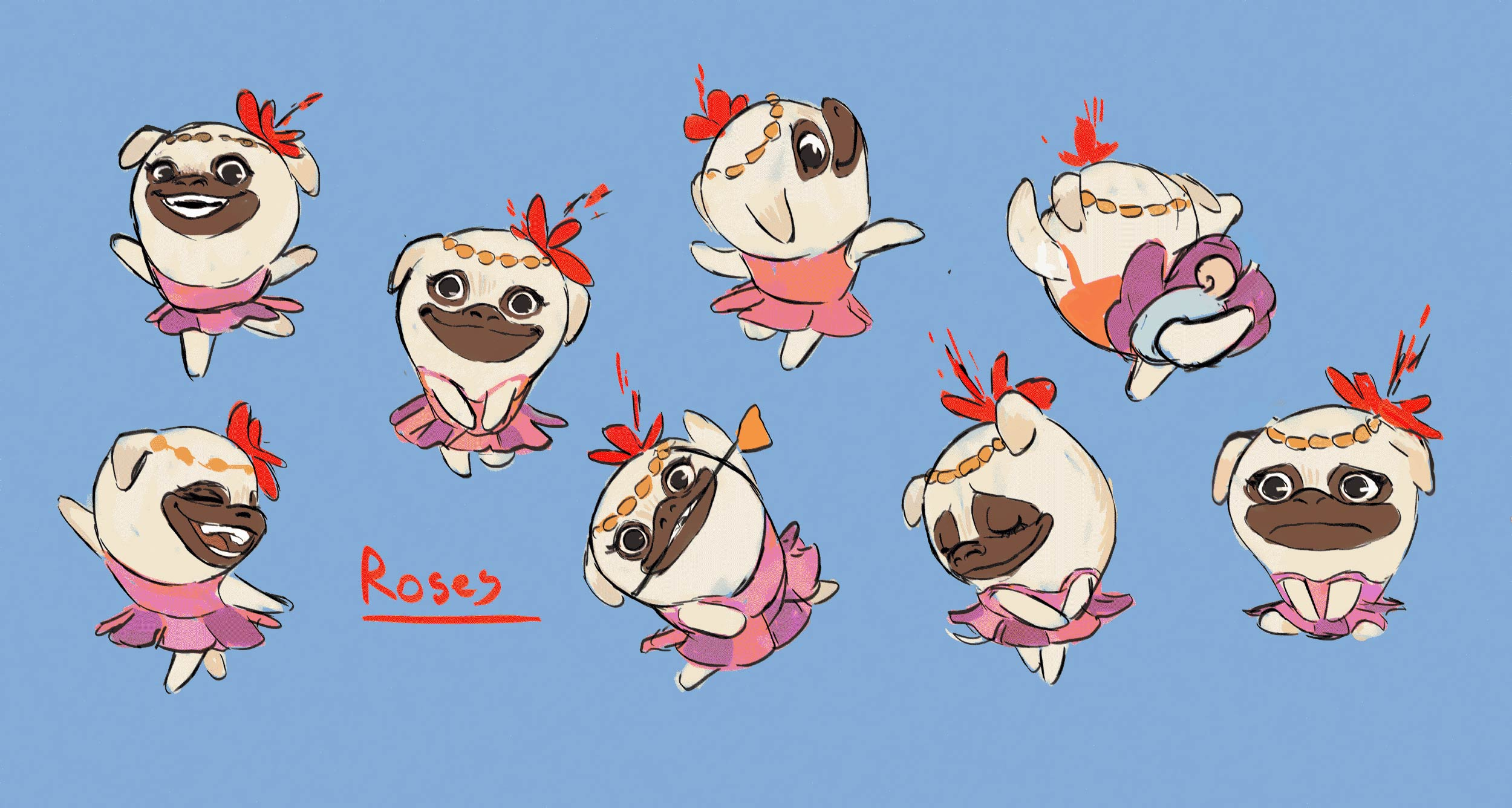 Roses the Pug
