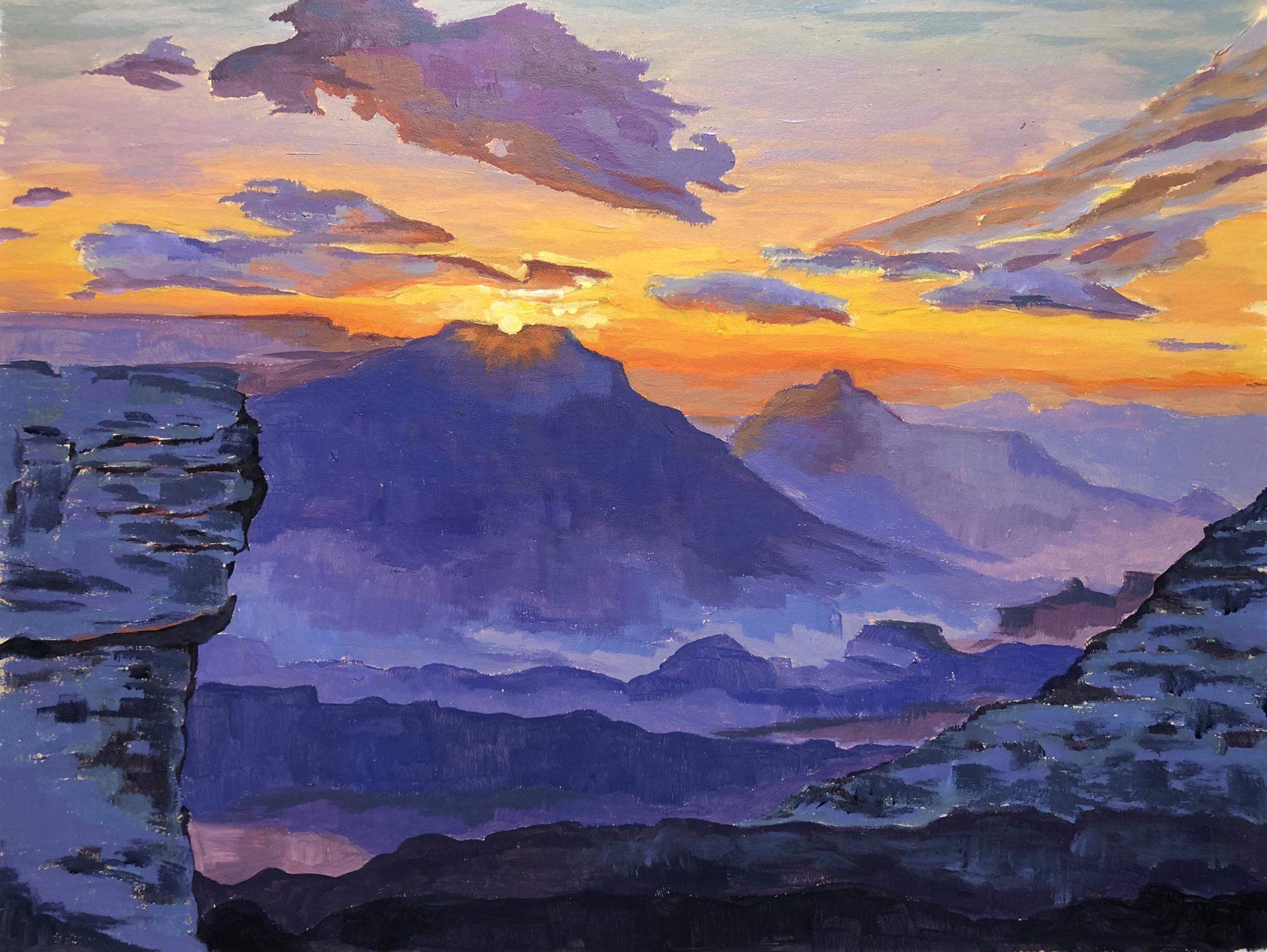 Sunrise, 5:42am Mather Point - Grand Canyon National Park