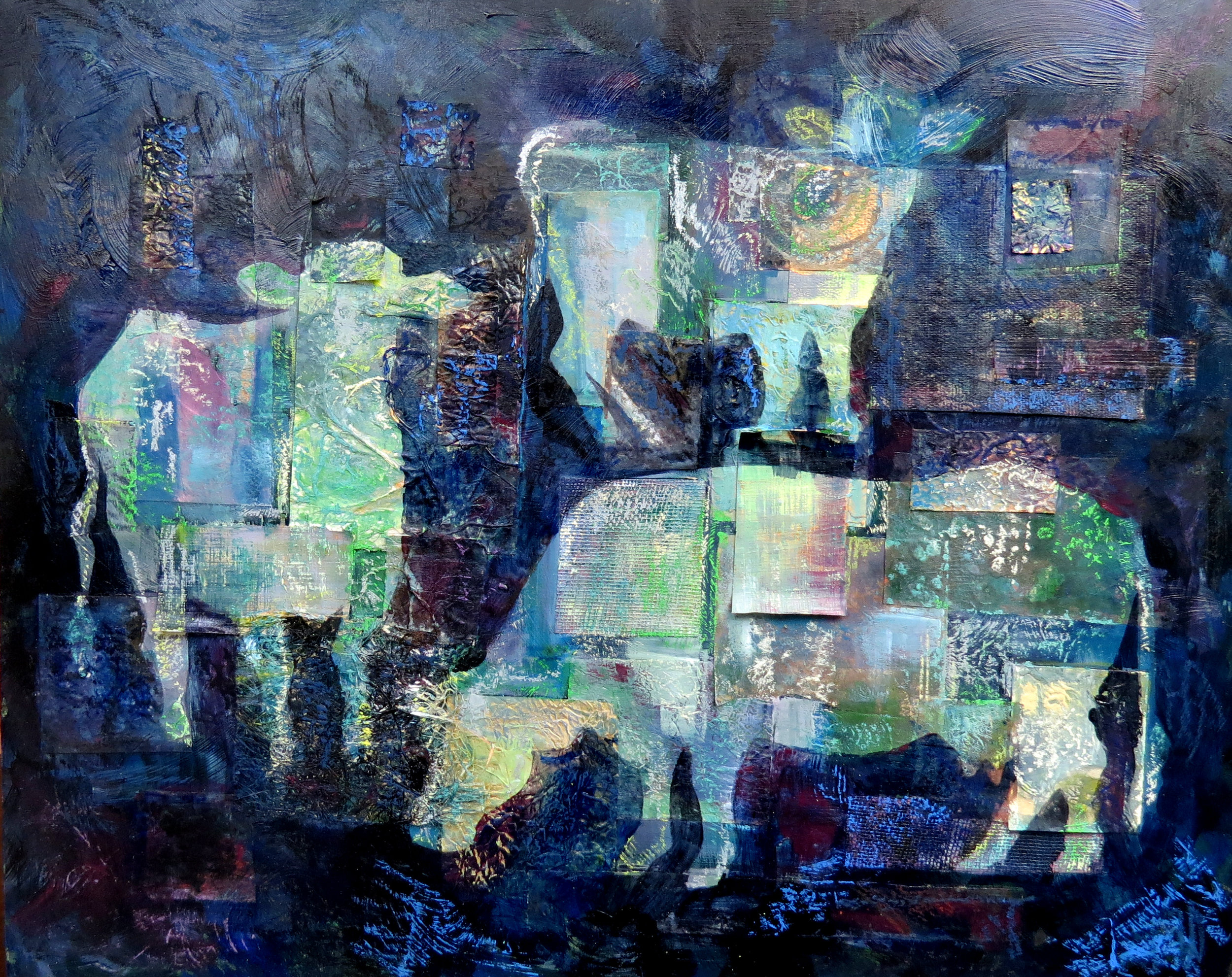 Cows in Blue
