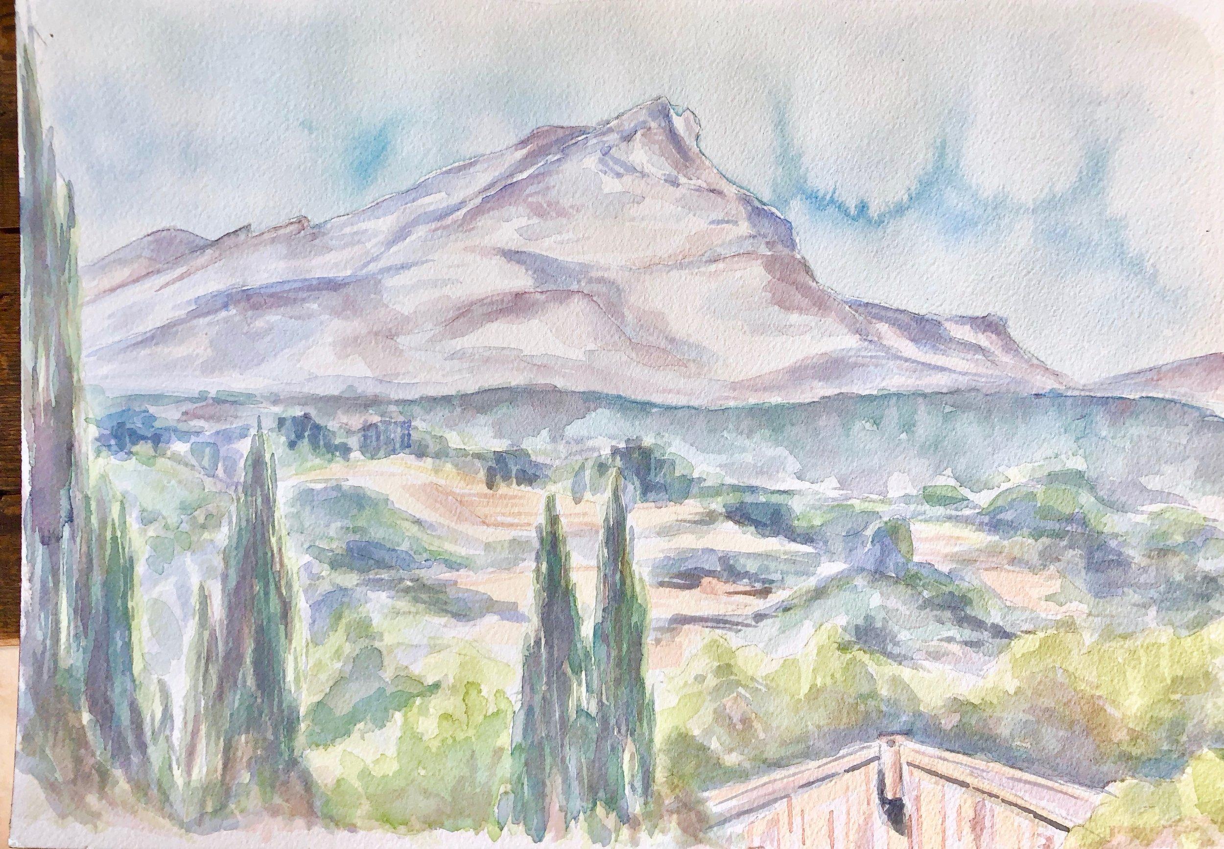 Hommage to Cézanne - Mount Saint Victoire