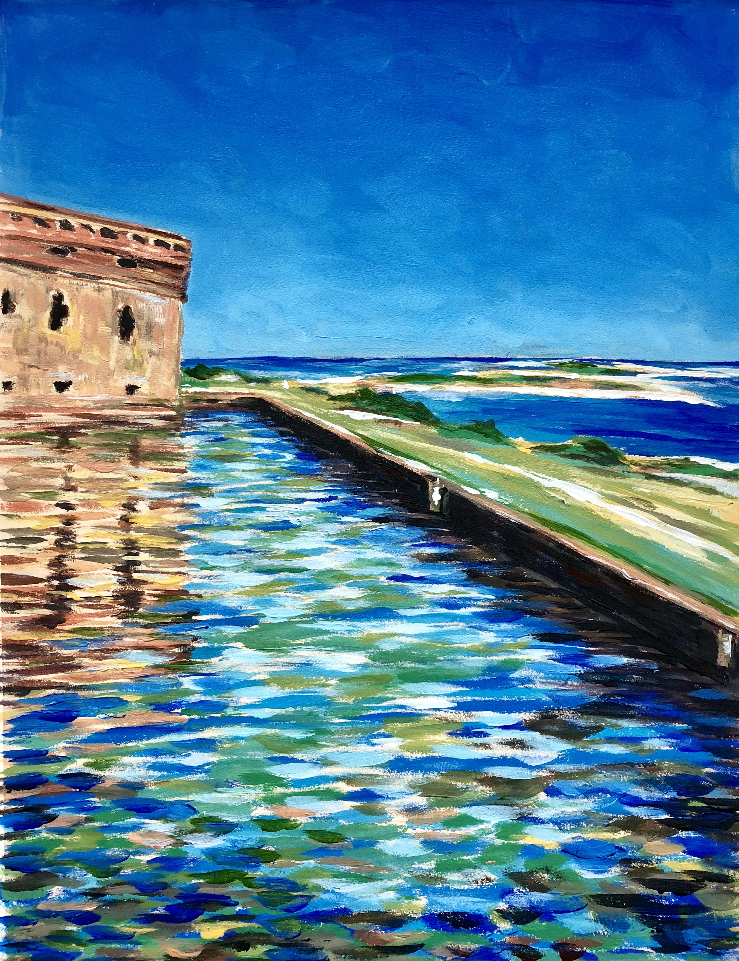 Reflections - Dry Tortuga National Park - acrylic