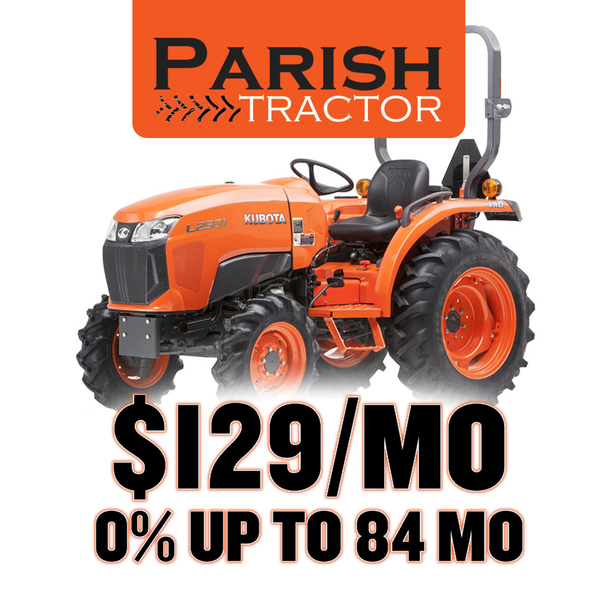 TV Commercial: Parish Tractor Kubota Dealership