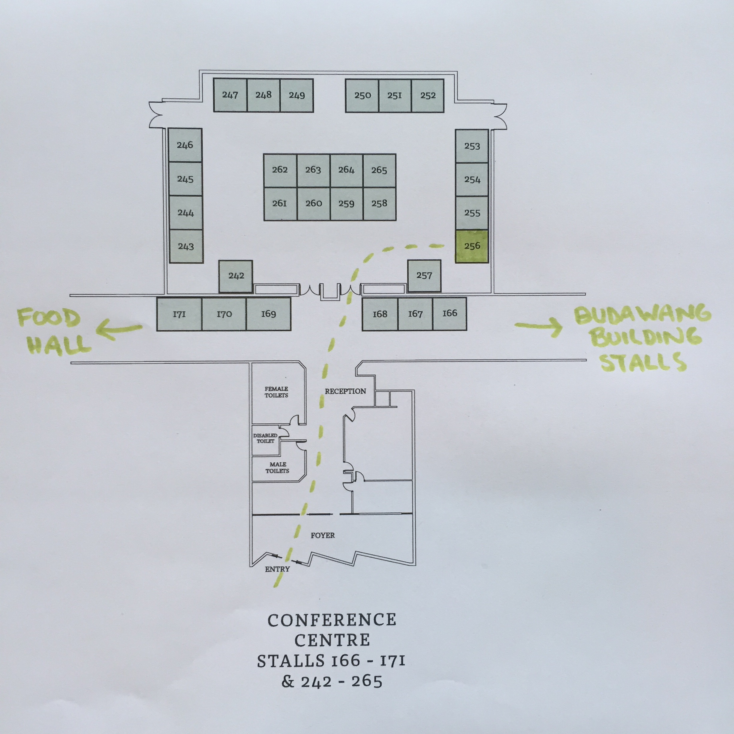 Here's how to find my stall.