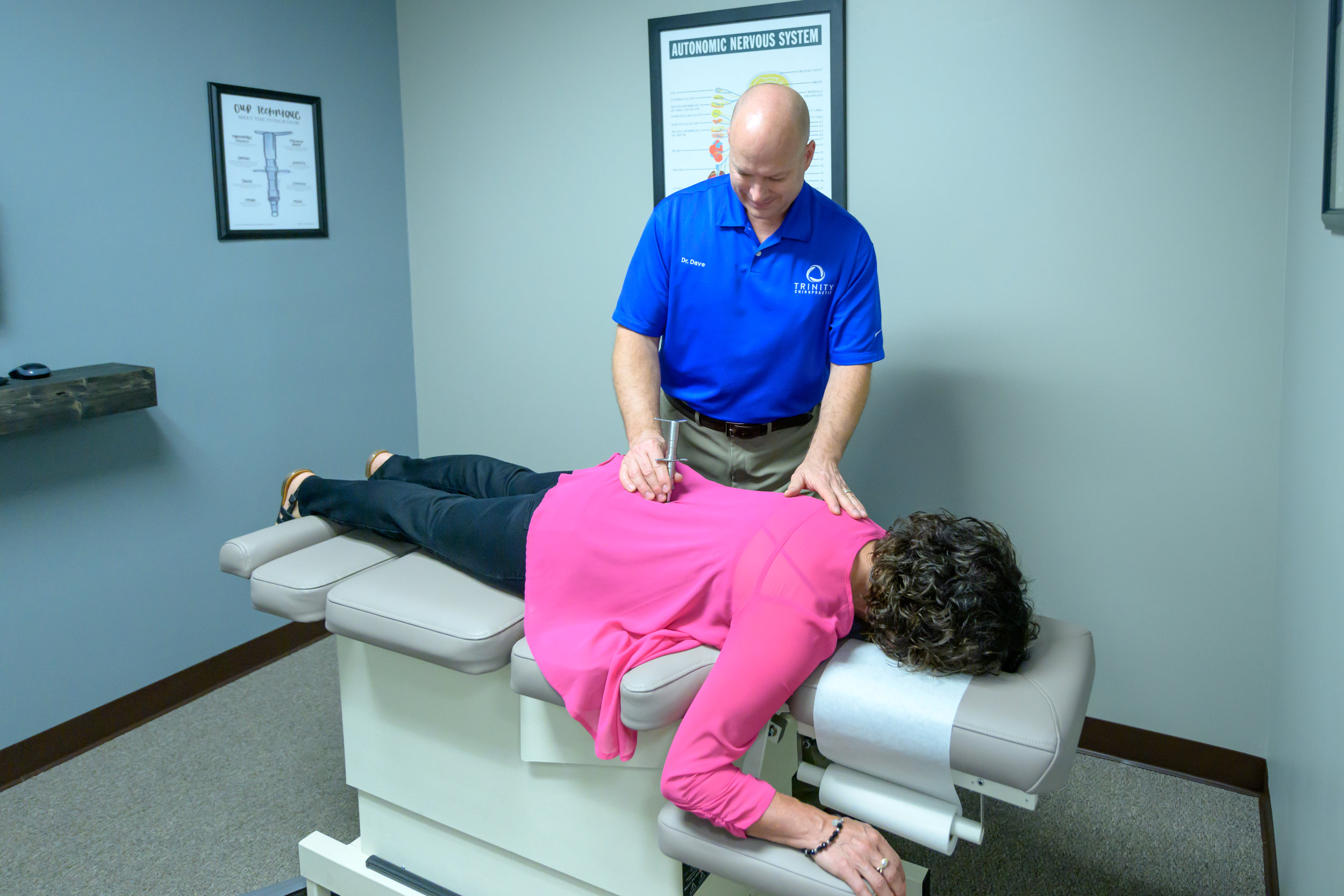 """Torque Release TechniqUe - Dr. David Iszler has Certified Advanced Proficiency in Torque Release Technique, which has been proven through research to be one of the most specific and scientific chiropractic techniques in the world. Torque Release Technique is the first chiropractic technique of the new millennium and provides patients of all ages with some of the most gentle, specific and reproducible chiropractic adjustments available. Never in the history of chiropractic have we been able to provide the level of help and expertise that now exists.Torque Release Technique has been designed as part of scientific research into the health benefits of chiropractic. It is a mixture of the """"best-of-the-best"""" systems of chiropractic assessment and care. Torque Release bases its technique on gentle, low force adjustment by using a handheld instrument called the Integrator. With the Integrator, adjustments can be delivered with the spine in a relaxed neutral position with the perfect amount of force. Patients enjoy the specific adjustment without the twisting, cracking and popping of traditional manual chiropractic adjustments."""